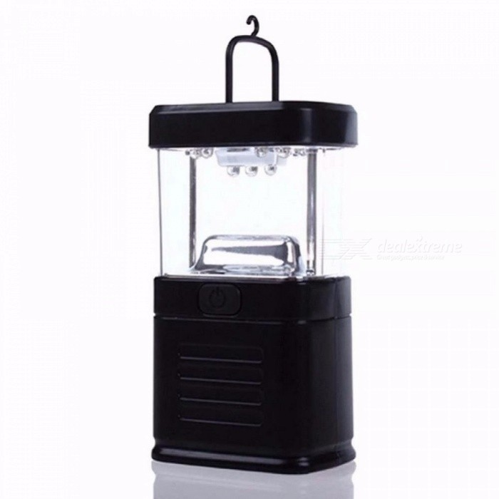 Buy Super Bright Portable Energy-saving Camping Fishing 11 LED Bivouac Lamp Hook Lantern Light 5W/Black with Litecoins with Free Shipping on Gipsybee.com