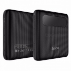 HOCO B20 10000mAh 18650 Dual USB Power Bank, Portable Mobile Phone Charger External Battery Pack W/ LED Display Black