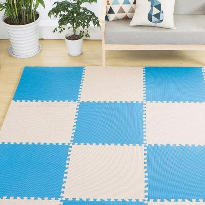 Foam Living Room Bedroom Decoration Baby Play Puzzle Mat Interlocking Exercise Tiles Carpet Home Decor See below for size descriptions/Light Green