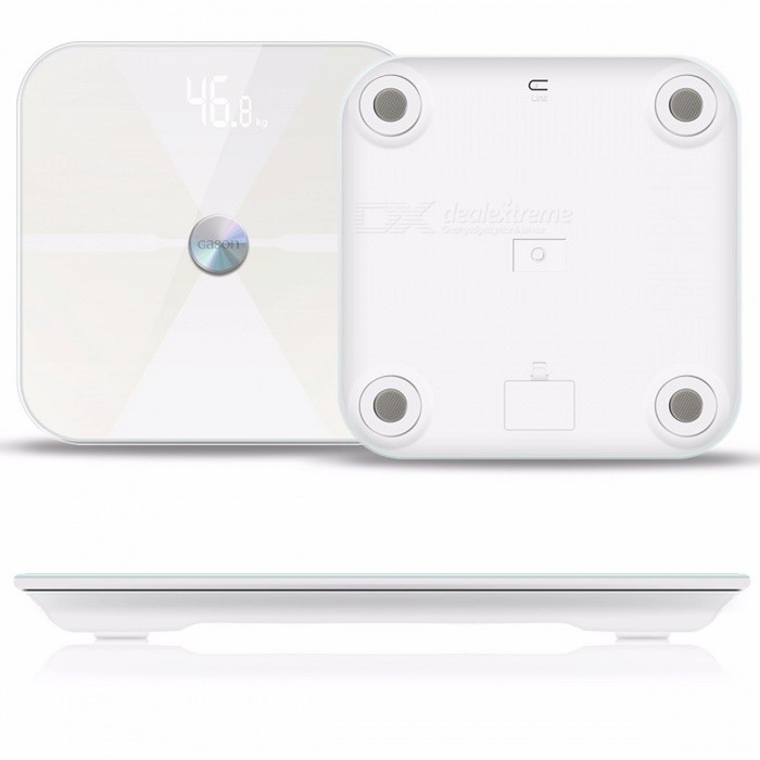 GASON T6 Bluetooth Body Fat Scales Floor Scientific Electronic LED Digital Weight Bathroom Household Balance White