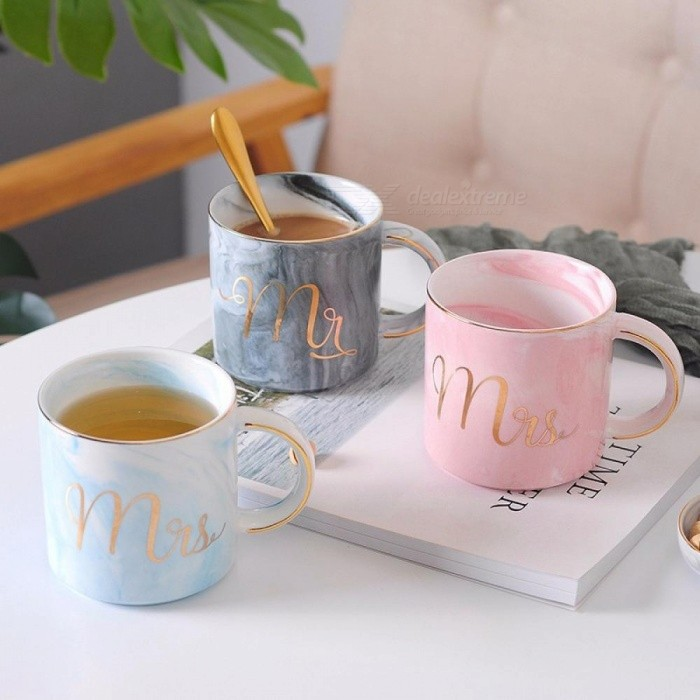 Breakfast | Porcelain | Ceramic | Coffee | Couple | Marble | Plate | Gift | Gray | Gold | Mug | Cup