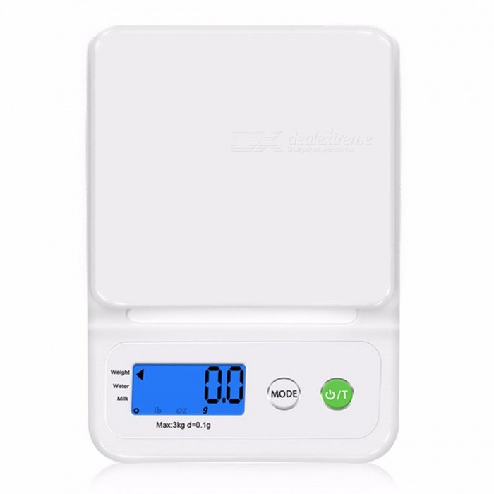 GASON C3 Kitchen Scale Home Accurate Digital Electronic Balance Plastic Measure Tools Cooking Food Grain LCD Display 3Kg