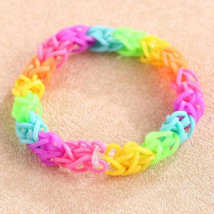 Buy 600pcs / Pack Braided Rainbow Rubber Bands Loom Replacement Rubber Bracelet DIY Anklet Clips Kit Outdoor Multifuncture Yellow with Litecoins with Free Shipping on Gipsybee.com