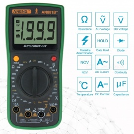 ZHAOYAO-AN881b-Transitor-Tester-True-RMS-Auto-Range-Digital-Multimeter-NCV-Ohmmeter