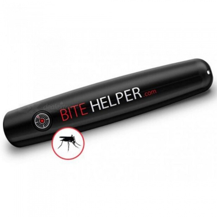 Buy Mosquito Reliever Bite Helper Itching Relieve Pen for Child Adult Face Body Massager Neutralizing Itch Black with Litecoins with Free Shipping on Gipsybee.com