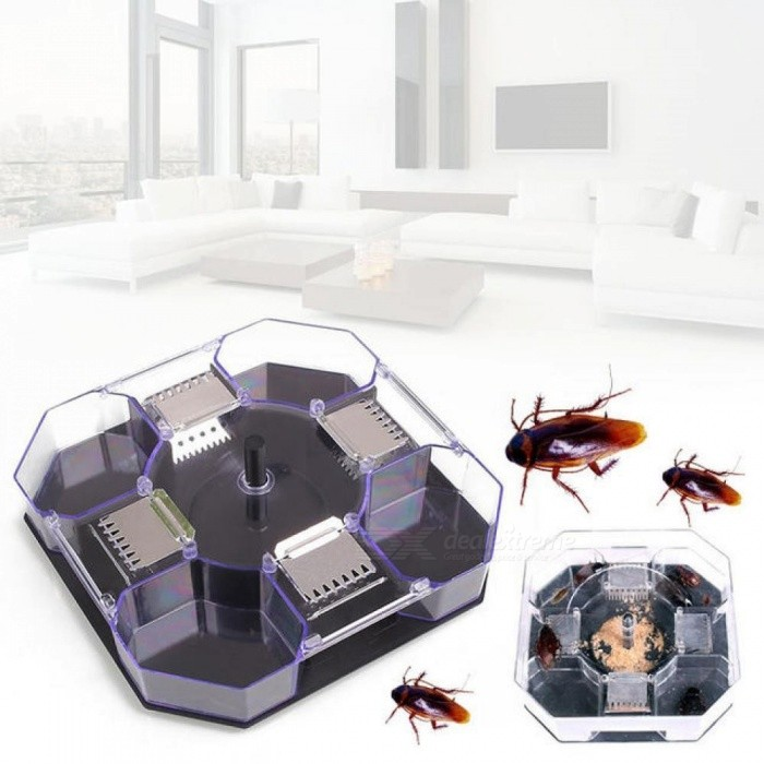 Cockroach Traps Box Reusable Plastic Non-Toxic Insect Killer Mosquito Repellent Pest Repeller Anti Cockroach Control Cockroach Traps