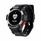 "NO.1 F6 0.96"" OLED 50m Waterproof Sport Smart Watch w/ 50 Days USE, Heart Rate Monitor - Sliver"