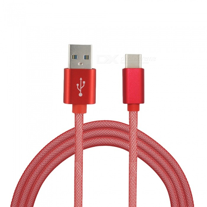 Mini Smile 3.4A High Speed Quick Charge USB 3.1 Type-C USB 2.0 Charging Data Transfer Cable (1m)