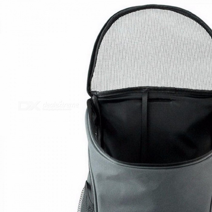 3cf6cb94445ed ... Outdoor Portable Double Mesh Shoulder Dog Bag Backpacks Carrier Pouch  Bags Polyester Durable Breathable Comfortable Gray