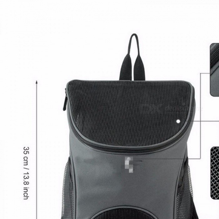 b030d3e9c Outdoor Portable Double Mesh Shoulder Dog Bag Backpacks Carrier Pouch Bags  Polyester Durable Breathable Comfortable Gray