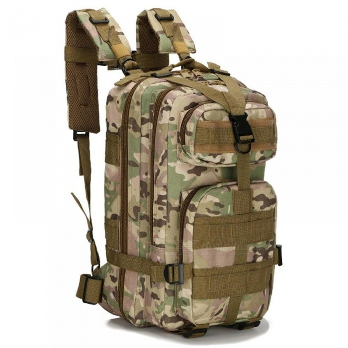 9ad5eafbf0 ... 30L Outdoor Military Tactical Backpack Molle Bag Army Sport Travel  Rucksack Camping Hiking Trekking Camouflage Bag