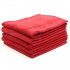 CARKING-5Pcs-400g-40-x-40cm-Multifunctional-Microfiber-Cleaning-Towel-for-Car-Body-Red