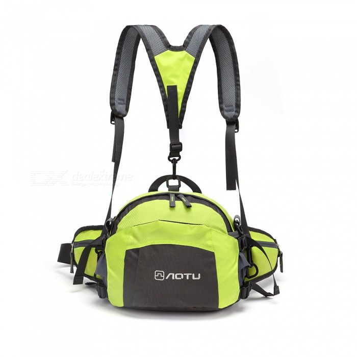 Buy AoTu Outdoor Men's and Women's Multifunctional Sports Camping Backpack Waist Bag - Grass Green with Litecoins with Free Shipping on Gipsybee.com