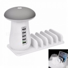 QC30-5-Port-USB-6A-Storage-Type-Quick-Charger-LED-Mushroom-Lamp-with-Phone-Holder-Function-US-Plug