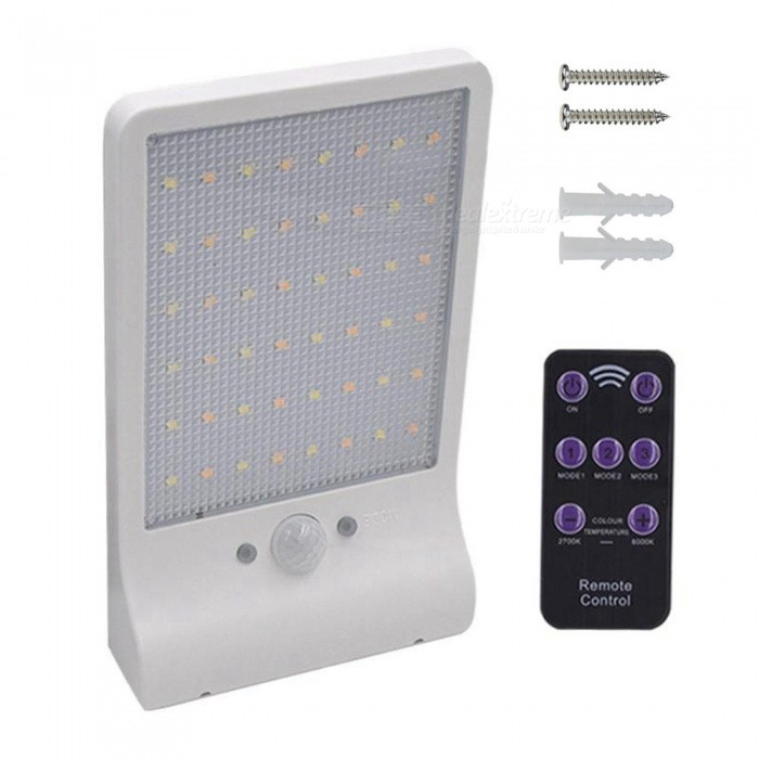 ZHAOYAO-IP65-Waterproof-Solar-Energy-Charging-Dual-Color-2835-SMD-48-LED-Light-with-Remote-Control