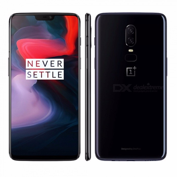 Original OnePlus 6 Smartphone 6GB 64GB Snapdragon 845 Octa-Core 20MP+16MP AI Dual Camera Face Unlock Android 8 Oxygen Black