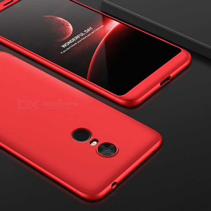 UVR Case For Xiaomi Redmi 5 Plus Case 360 Degree Full Protection Matte Hard PC 3 in 1 Back Cover For Redmi 5 Fundas Couque For Redmi 5 Plus/Red