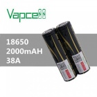 VAPCELL-18650-2000mAh-37V-Rechargeable-High-Capacity-Lithium-Battery-Continuous-38A-(2-PCS)