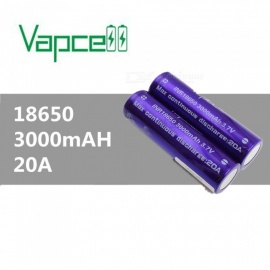 VAPCELL-18650-3000mAh-37V-Rechargeable-High-Capacity-Lithium-Battery-Continuous-20A-(2-PCS)