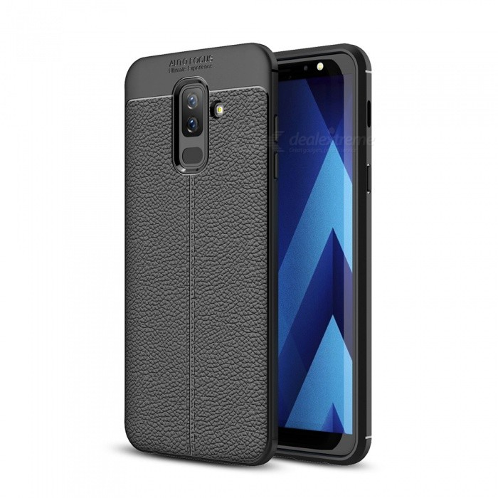 best value 6cb90 2d418 Dayspirit Lichee Pattern Protective TPU Back Cover Case for Samsung Galaxy  A6+ (2018), A6 Plus 2018 - Black