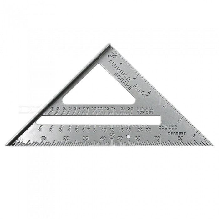 DIY Metric Inch Length Triangle Ruler 90 Degree Square Thick Stainless Steel Triangular Rule Tool Measurement and Drawing