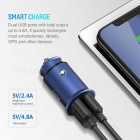 ROCK Universal Metal Compact Mini Size 4.8A Dual USB Car Charger Adapter For Mobile Phones, Tablet PC Black/Universal