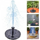 Solar-Outdoor-Pump-Park-Pool-Round-Decoration-XIP65-Floating-Fountain-Black