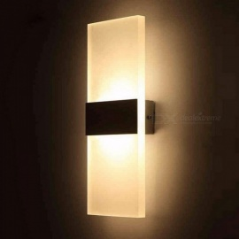 5W LED Acrylic Wall Lamp Wall Mounted Sconce Lights Lamp Decorative Living Room Bedroom Corridor Wall Light AC 85265V