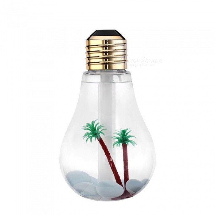 Buy 400ml Colorful Landscape LED Night Light Bulb Shape USB Mini Humidifier with Litecoins with Free Shipping on Gipsybee.com