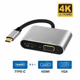 USB-C-to-Digital-AV-Multiport-Adapter-USB-31-Type-C-to-HDMI-VGA-UHD-Dual-Converter