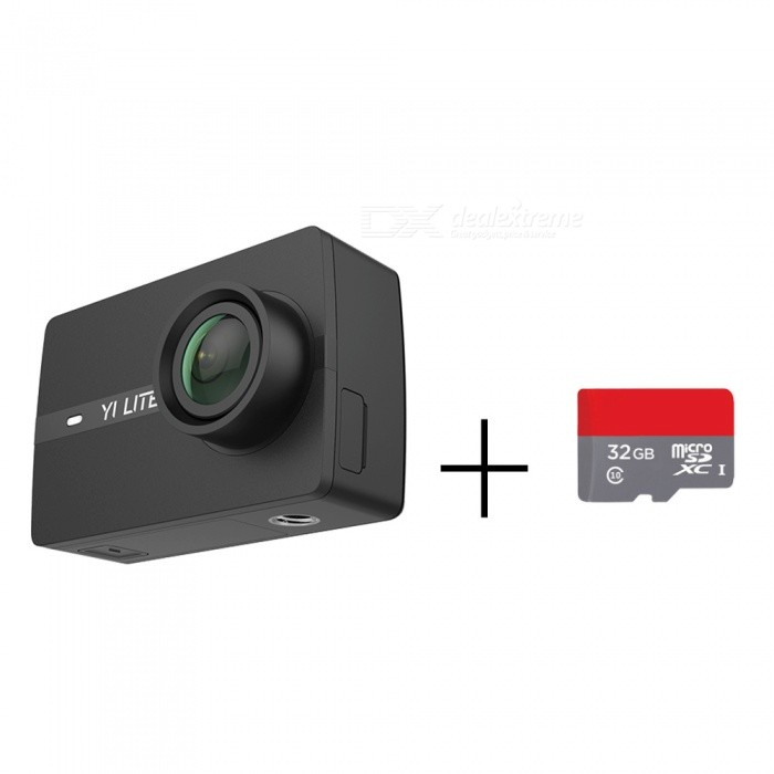 xiaoyi YI Lite Action Camera with 32GB TF Card - Chinese Edition for sale for the best price on Gipsybee.com.