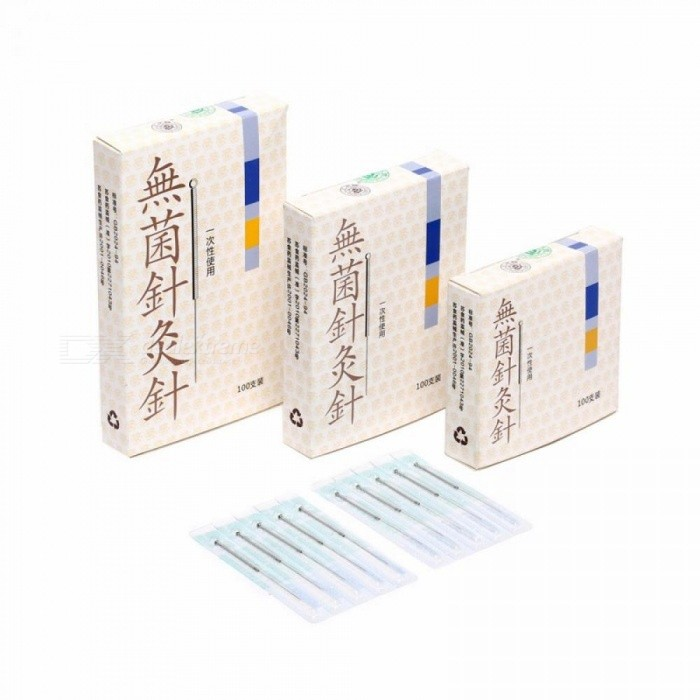 Buy Cloud Dragon Disposable Acupuncture Needles (Non-Needle-Tubing Package Version Silver (10 x 10PCS) with Litecoins with Free Shipping on Gipsybee.com