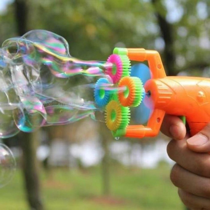 Buy Electric Soap Bubble Gun #5 Battery Power Automatic Bubble Water Blowing Machine Kids Holiday Water Gun Toy gun with no liquild with Litecoins with Free Shipping on Gipsybee.com