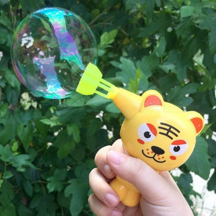 Kids Soap Water Bubble Gun Cartoon Animal Model Bubble Blower Machine Toy for Kids Children Water Gun Gift