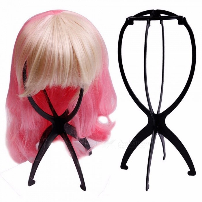 Stable Folding Wig Stand Holder Hat Cap Display Tool Mannequin Dummy Head Wig Stand Bracket Support Accessories Blue