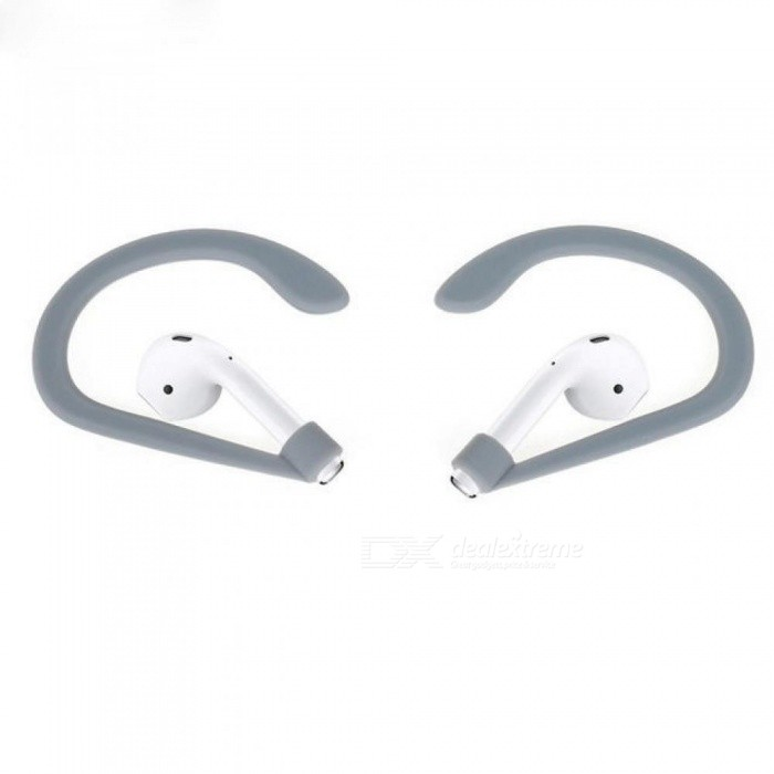 Buy 1 Pair Earhook Holder for Apple AirPods Strap Silicone Sports Anti-Lost Ear Hook Soft Earhooks for Adults with Litecoins with Free Shipping on Gipsybee.com