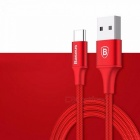 Baseus Type-C  Indicator Light 2A Fast Charge Nylon Data Cable Red/0.25m