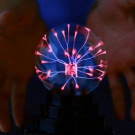 USB Magic Black Base Glass Plasma Ball Sphere Lighting Party Lamp Light With USB Cable