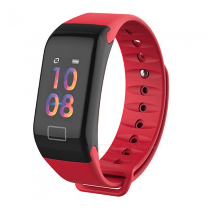 F1 Plus Bluetooth Smart Watch Bracelet With Heart Rate Blood Oxygen Pressure Monitoring