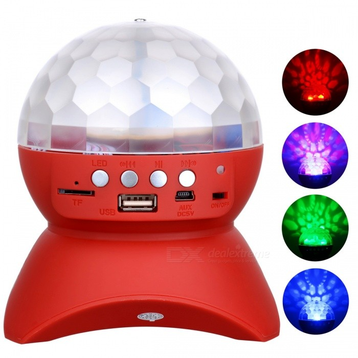 exLED Disco Ball Lamp, Stage LED Light - Red