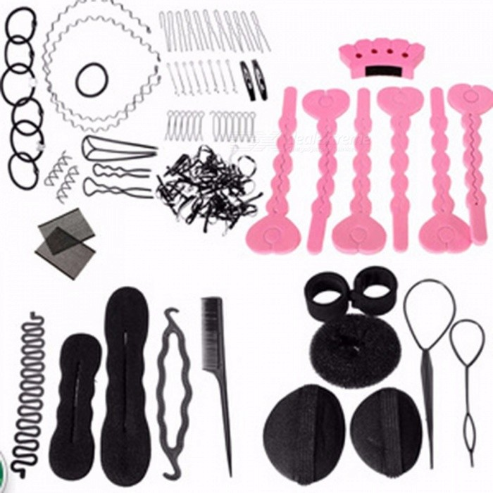 Buy DIY Tool Hair Accessories Synthetic Wig Donuts Bud Head Band Ball Pull Hair Pin French Meatball Head Tool Sponge Disk with Litecoins with Free Shipping on Gipsybee.com