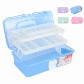 Nail-Art-Tool-Box-Multi-Utility-Storage-3-Layer-Plastic-Case-Makeup-Craft-Manicure-Salon-Kit-Accessories-(Random-Color)