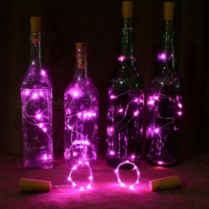 4PCS YWXLight 0.8M Solar Cork Shaped 8 LED Night Fairy String Lights Wine Bottle Lamp