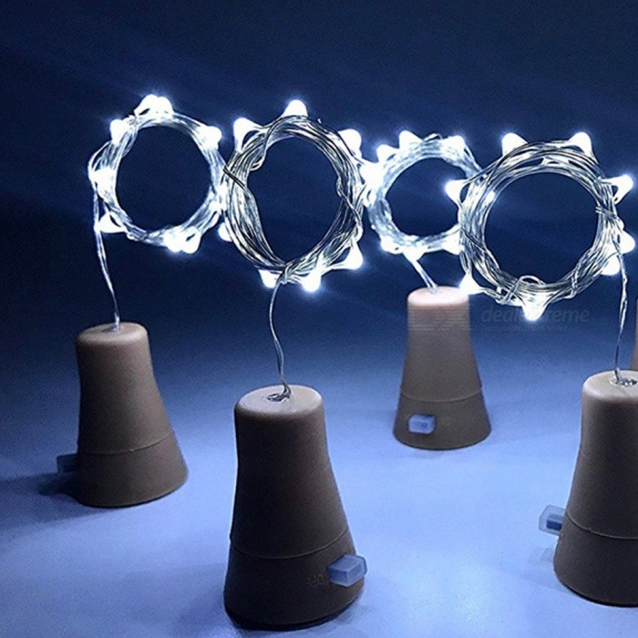 4PCS YWXLight 1M 10LED Bottle Stopper String Lights LED Solar Copper Wire Lamps