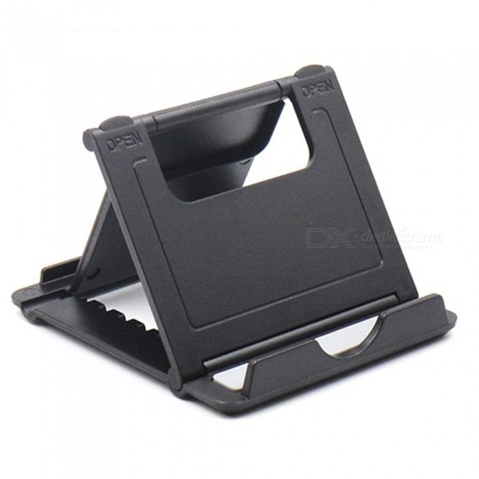 Buy Folding Tablet Stand Mount Holder, Phone Desktop Bracket - Black with Litecoins with Free Shipping on Gipsybee.com