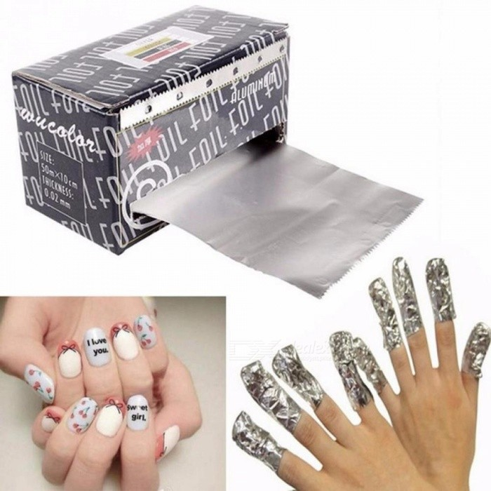 Nails - Aluminum Foil Wraps Remover, Fake Nails Makeup Tool Gel ...