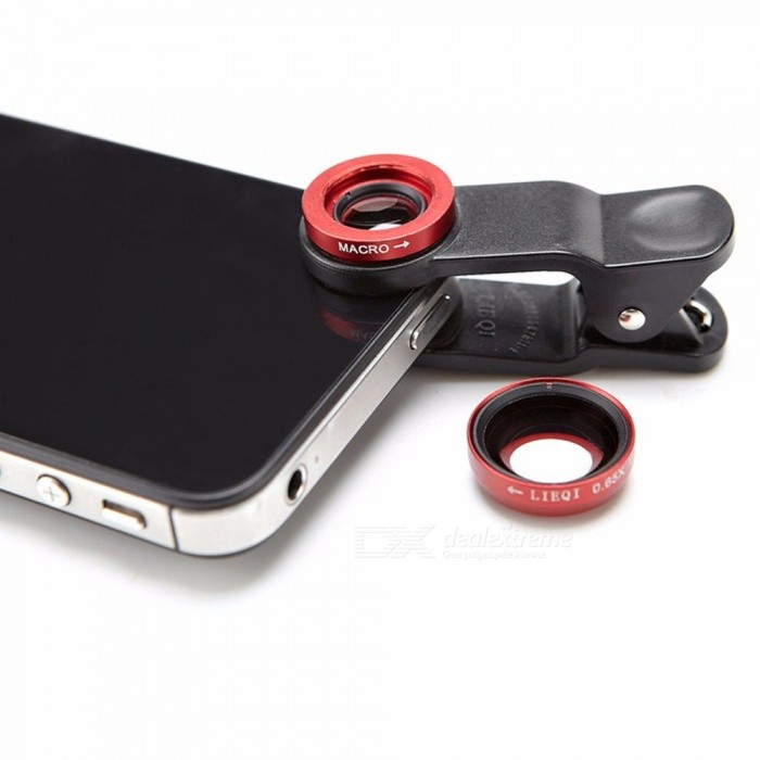 Buy LIEQI LQ-067 2 In 1 Cell Phone Lens Kit 0.65X Wide Angle Lens + Macro Lens Cell Phone Camera Lens For Smartphone Black with Litecoins with Free Shipping on Gipsybee.com