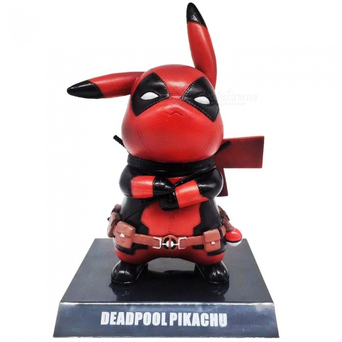 Buy Deadpool Pikachu Mini PVC Figure Collectible Model with Litecoins with Free Shipping on Gipsybee.com