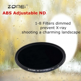 ZOMEI-Circular-Filter-ABS-Adjustable-ND-Neutral-Density-ND2-400-Optical-Camera-Lens