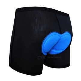 Thickened Silicone Outdoor Bicycle Riding Cycling Short Pants Shorts - Black